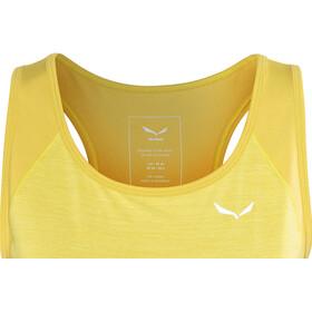 Salewa Pedroc 2 Dry - Haut sans manches Femme - jaune